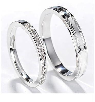 Amazon Com Gowe Classic Natural Diamond Couple Rings Men Women