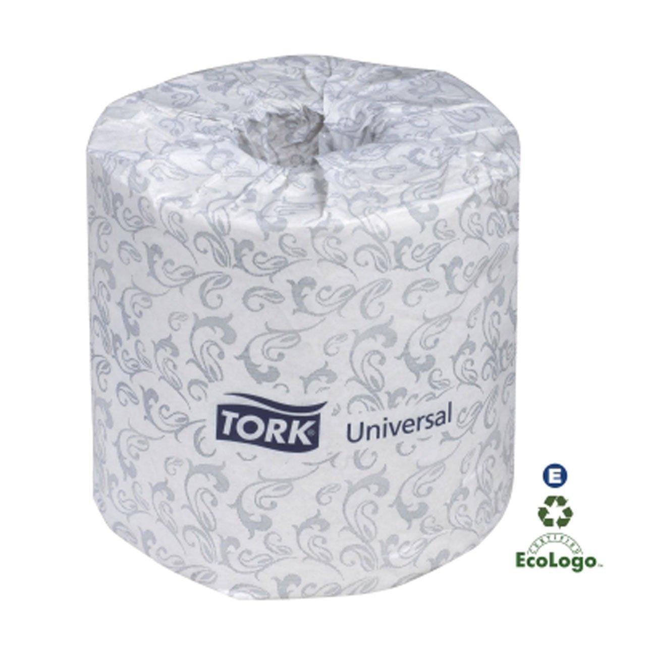 Tork TS1636S Universal Single-Ply Toilet Tissue Roll, White, 96 Rolls