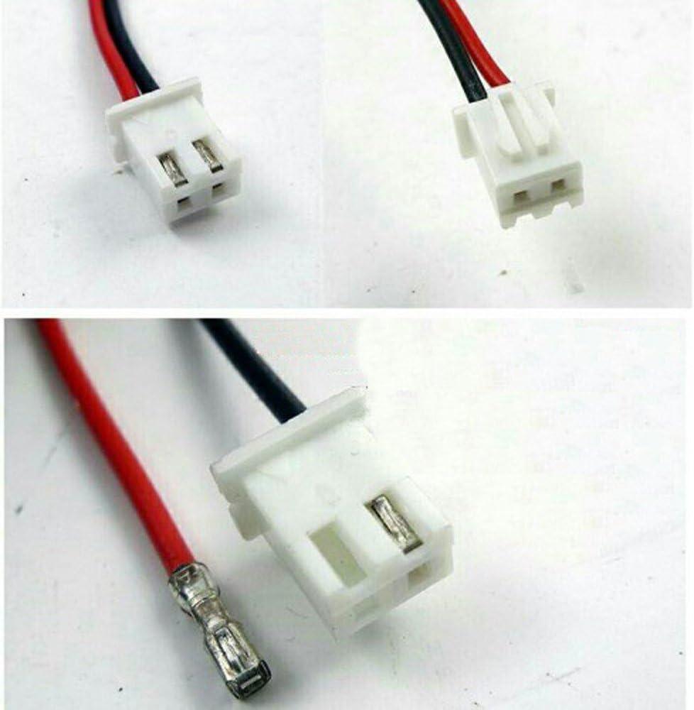 100pcs 15cm JST XH2.54-2P 2.54mm Pitch 2 Pin Connectors Kit Cable Plug Header Expansion Wire