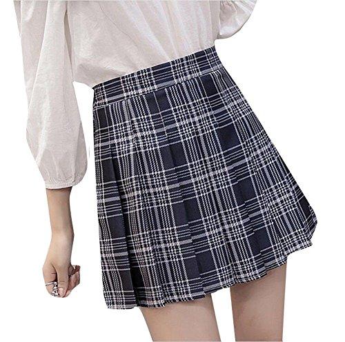 YUCH Jupes pour Femmes tudiants Zippers  Taille Haute Jupes Courtes Vtements D't Et D'automne. Zaqin