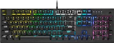 Comprar Corsair K60 RGB Pro Low Profile Teclado Mecánico para Juegos (Interruptores Cherry MX Low Profile Speed: Rápido y Altamente Preciso, Aluminio Resistente, Retroiluminación RGB Personalizable) Negro