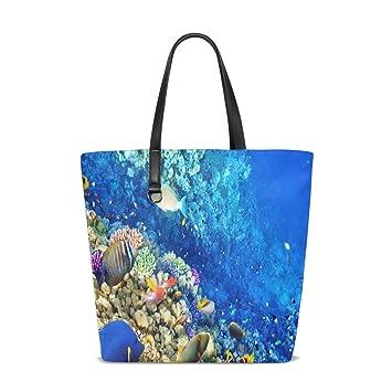 Amazon.com : Ocean Underwater Tote Bag Purse Handbag Womens ...