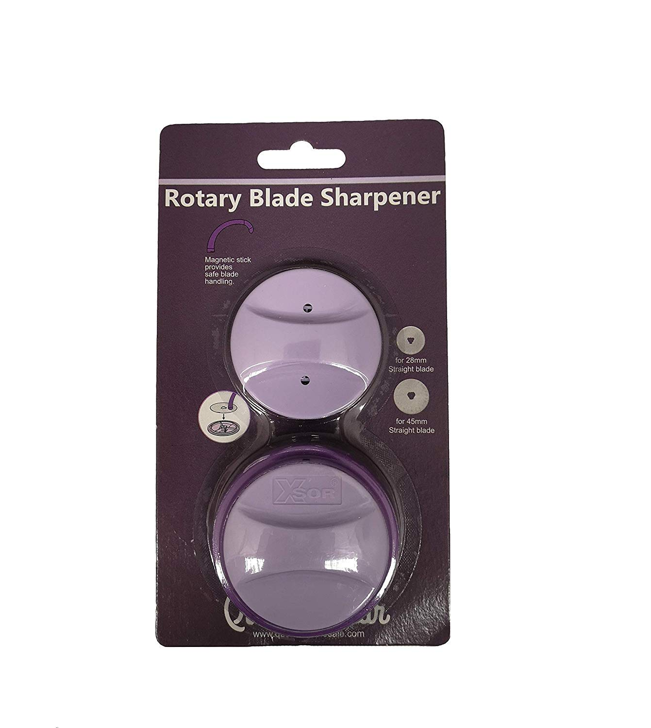 Quilting Bear Premium Universal Rotary Blade Sharpener for 28mm /& 45mm Blades