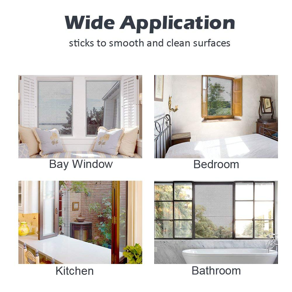 Homein Moustiquaire Fenetres Fiable Moustiquaire pour Fen/être Anti Insectes et Auto-adh/ésive Moustique velux avec Ruban Adhesif Noir 130x150cm