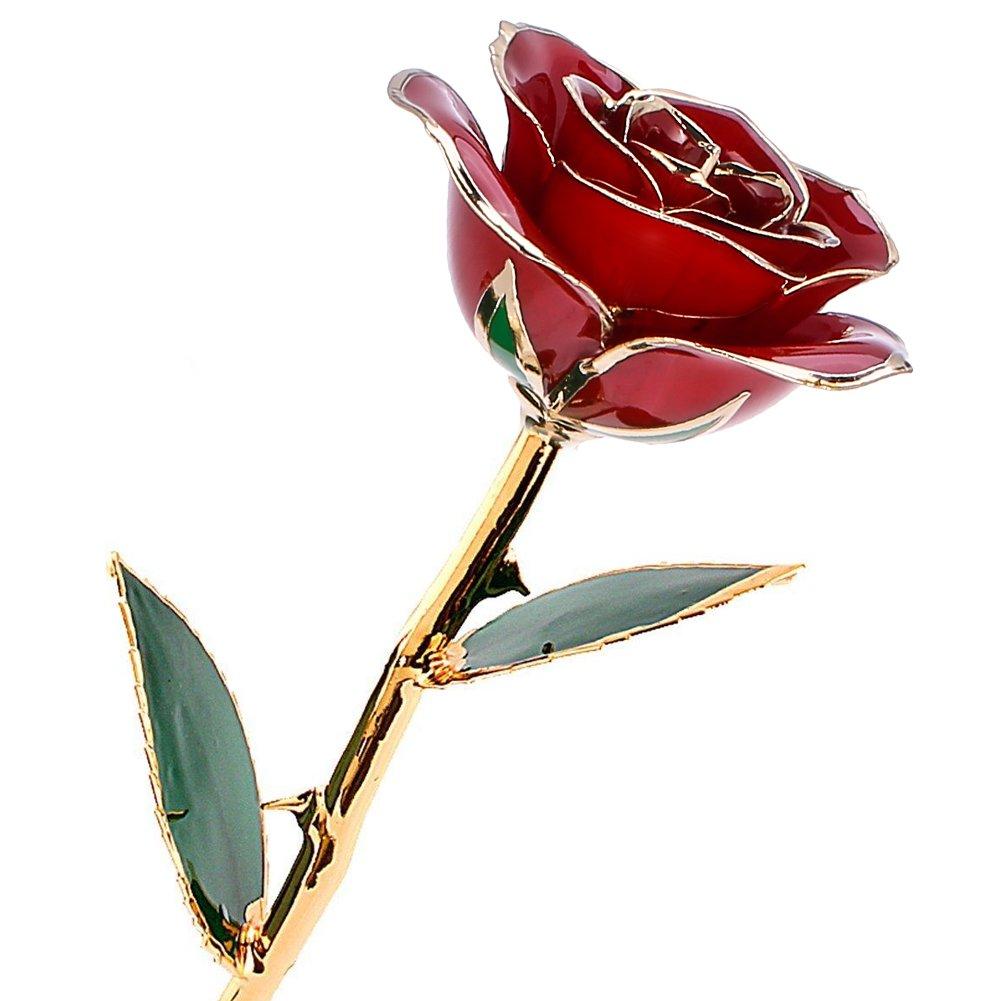 Rosa fiori rossi Regali di Giorno del Ringraziamento,San Valentino,la Festa della Mamma, Anniversario,Natale Decorazione Fiore