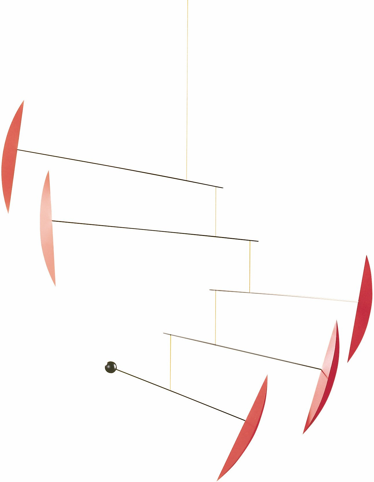Tango Red Hanging Mobile - 40 Inches - Steel and Plastic - Handmade in Denmark by Flensted