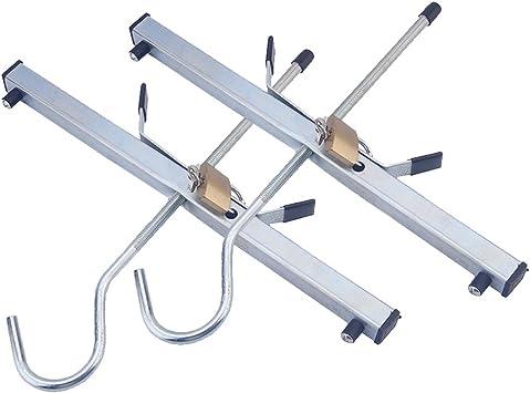 Escalera portaequipajes universal de aluminio para techo de furgoneta, con 2 candados: Amazon.es: Bricolaje y herramientas
