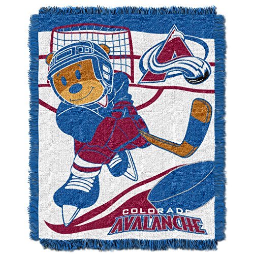 The Northwest Company Officially Licensed NHL Colorado Avalanche Score Woven Jacquard Baby Throw Blanket, 36