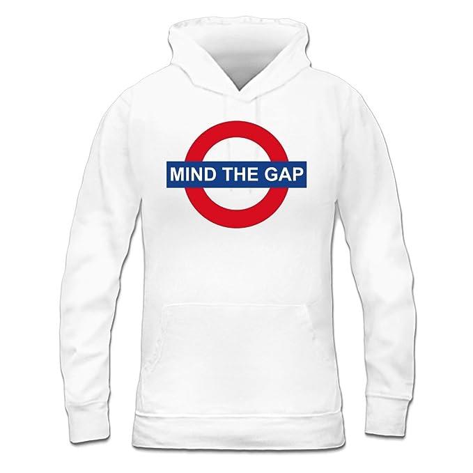 Sudadera con capucha de mujer Mind The Gap by Shirtcity: Amazon.es: Ropa y accesorios
