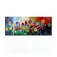 I Colori del Caribe Quadri Moderni Dipinti A Mano con Certificato di ARTIGIANALITA' Colorati Alberi Blu Azzurro Rosso per Salone Soggiorno Alta QUALITA' Made in Italy Felicita' 3