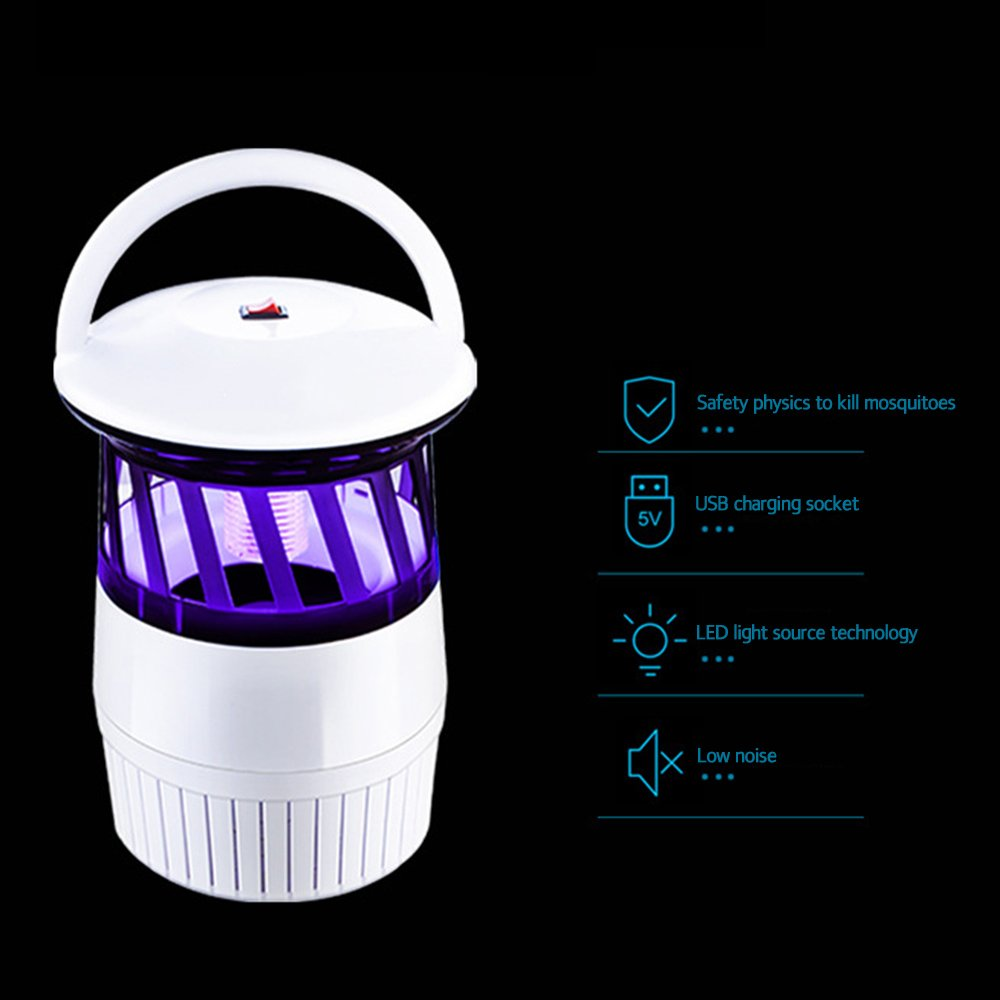 EBILUN Black Electric Mosquito Killer Light Insect Trap Repellent Ultraviolet Lamp