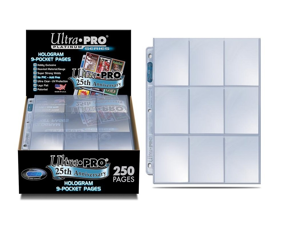 Ultra Pro 9-Pocket Platinum Page for Standard Size Cards – 25th Anniversary Edition
