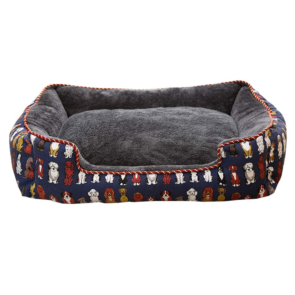 A M A M HQSB Deluxe Pet Bed for Cats and Small Medium Dogs Rectangle Cuddler with Soft Detachable Cushion (color   A, Size   M)