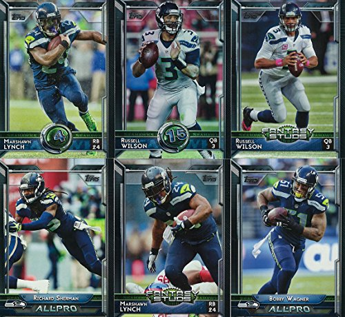 (Seattle Seahawks 2015 Topps Complete Regular Issue 23 Card NFL Team Set Including Russell Wilson, Marshawn Lynch, Richard Sherman and Others)