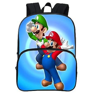 HOOMOLO Unisex Niños Super Mario Impresión 3d Mochilas Cute de Dibujos Animados School Bag School Rucksack School Rucksack: Amazon.es: Equipaje