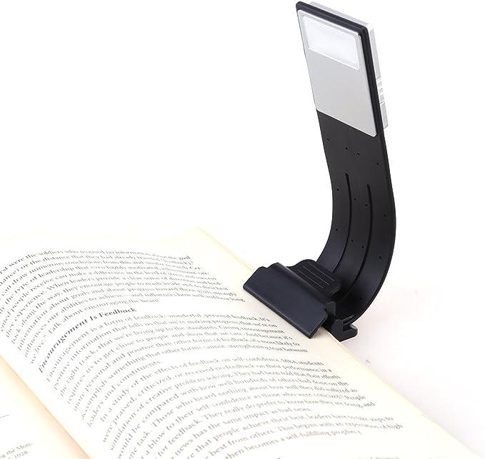 luce del libro LED multifunzione come segnalibro sulla luce di lettura del libro a LED nel pacchetto letto di 4 LEDMOMO Luce di lettura a clip