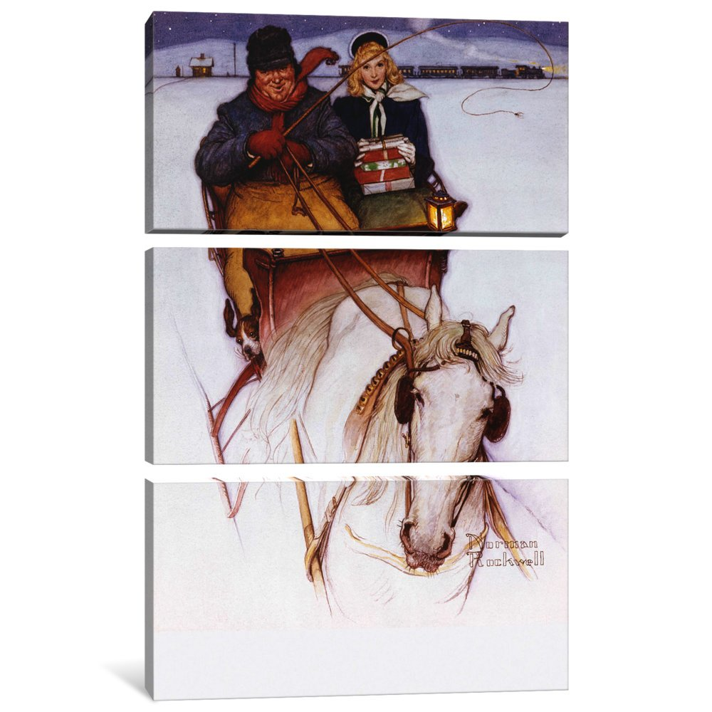 iCanvasART 3 Piece Homecoming Canvas Print by Norman Rockwell 60 x 40//0.75 Deep