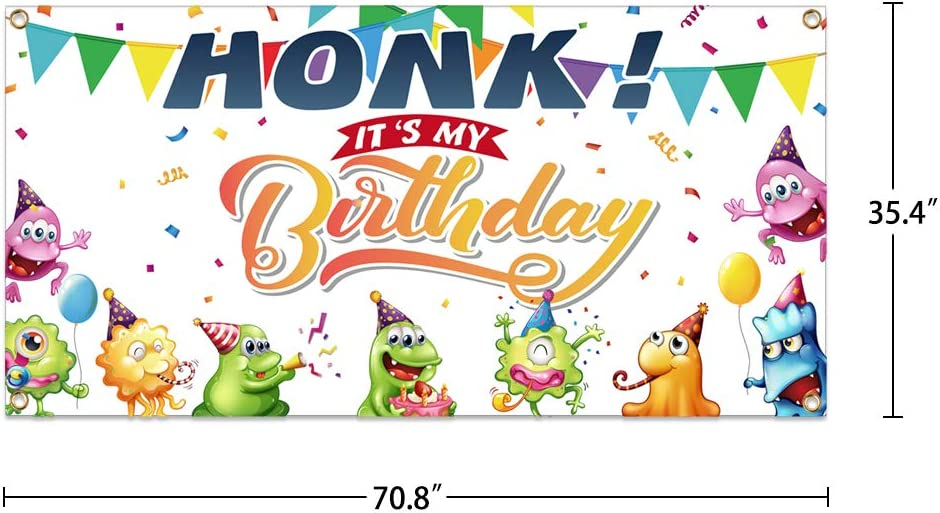 FaCraft Happy Birthday Quarantine Banner,35.4x 70.8 Happy Birthday Yard Sign for Yard Party,Lawn Decorations,Baby Shower Party.