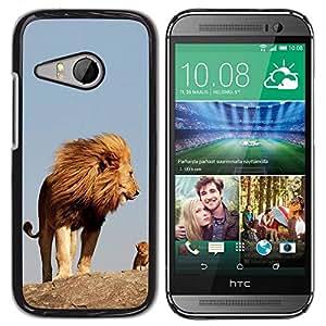 PC/Aluminum Funda Carcasa protectora para HTC ONE MINI 2 / M8 MINI nature cute mother mom mommy lion / JUSTGO PHONE PROTECTOR