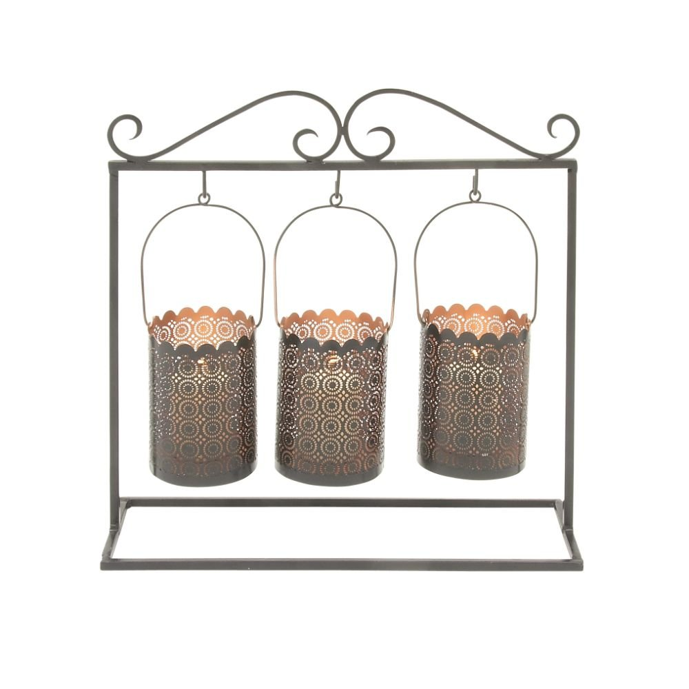 Deco 79 49624 Metal Wall Candle Holder, 15'' x 16'' by Deco 79