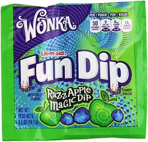 - Wonka Lik-m-aid Fun Dip Candy (48 pcs. per unit, 1.5 lb.) Fat-free.