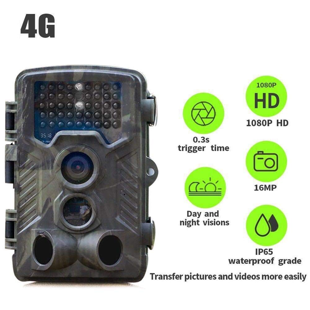 HCATNcame Trail Camera 16MP 1080P, Wildlife Seeking Scouting HD ,0.3s Trigger Speed- Night Vision up to 65ft/20m IP65 Spray Waterproof Camouflage for Outdoor Nature, Garden, Home Security