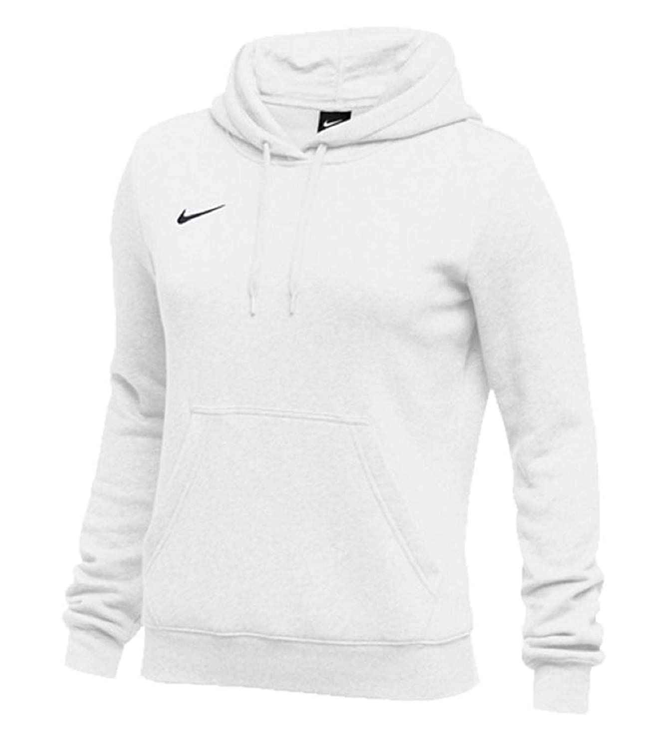 Blanc noir M Nike Sweat sweat à capuche Femme Club Fleece