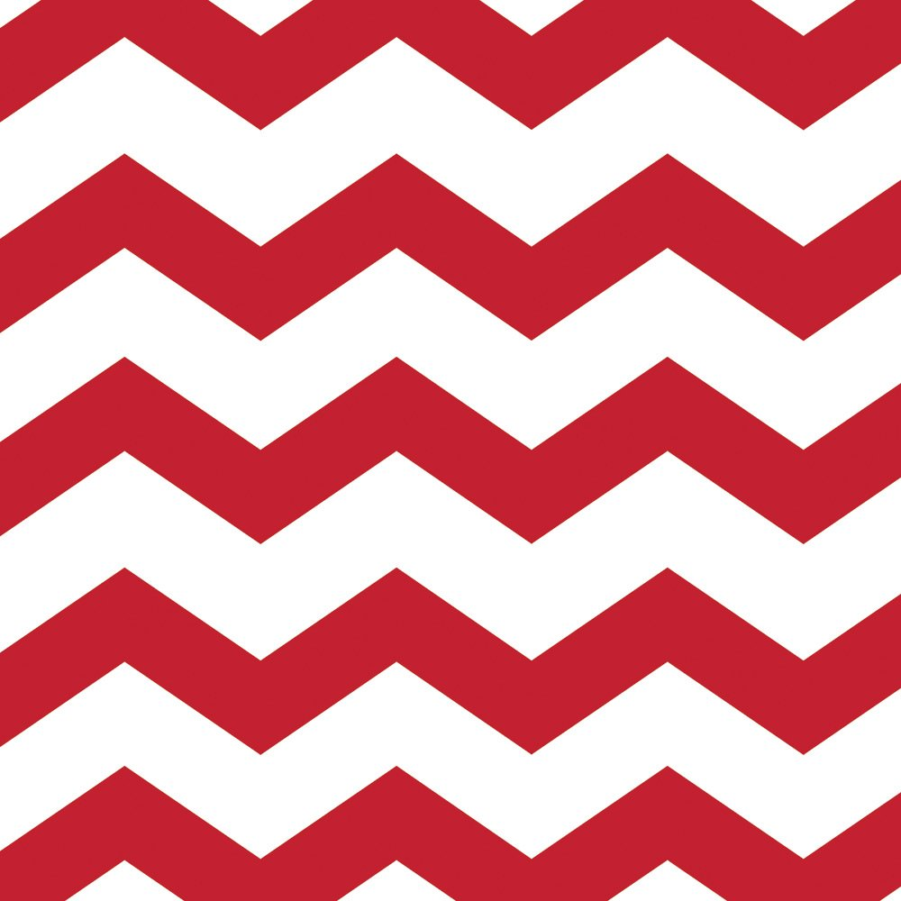 Creative Converting 192 Count Celebrations Chevron and Polka Dots Napkins, Red/White, Lunch