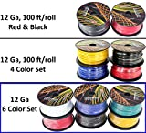 6 gauge power wire - GS Power 12 Gauge Ga, 6 Rolls of 100 Feet (600 ft total) Primary Wire. CCA Cable for Car Audio Stereo Amplifier Remote Turn Automotive Trailer Signal Wiring. Color: Black Red Blue Yellow White Green