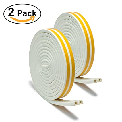 33Ft Long Insulation Weatherproof Doors And Windows Soundproofing Seal Strip Collision Avoidance Rubber Self-Adhesive  sc 1 st  Amazon.com & 33Ft Long Insulation Weatherproof Doors And Windows Soundproofing ...