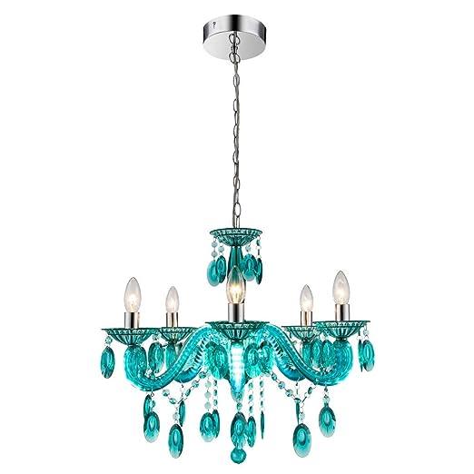 turquoise chandelier lighting. LED Kron 18 W Chandelier Living Room Lamp Low-hanging Light Turquoise Globo 63134 Lighting