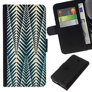 All Phone Most Case / Oferta Especial Cáscara Funda de cuero Monedero Cubierta de proteccion Caso / Wallet Case for LG OPTIMUS L90 // Pattern Picea Green White Shapes
