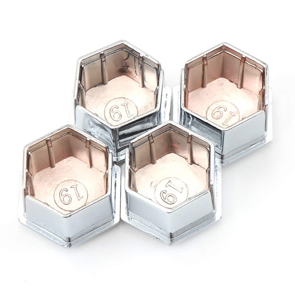 Lot de 20 cache-/écrous hexagonaux pour Peugeot 307 308 408 206 207 C4L C5 Argent/é
