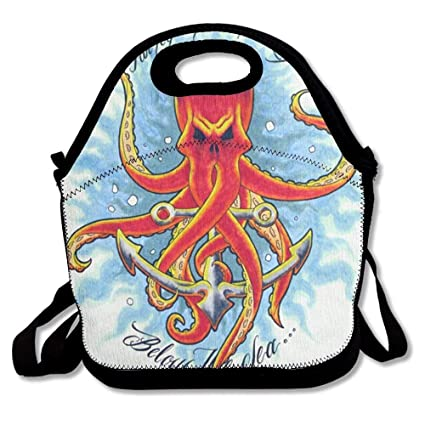 Amazon Com Vioceff Octopus Anchor Tattoo Design Insulated Lunch