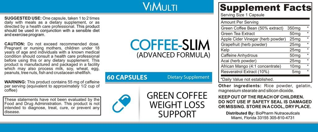 Vimulti BLOATING RELIEF Green Tea Colon Cleanse Weight Loss Program with Psyllium Green Coffee for Quick Weight Loss and Increased Energy .Natural DETOX Cleanse Top Green Tea Fat Burner. Energy Pills