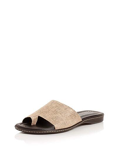 ff59248d4fc Image Unavailable. Image not available for. Color  Donald J Pliner Womens  Gyles Metallic tan Leather Split Toe Slide Sandals ...