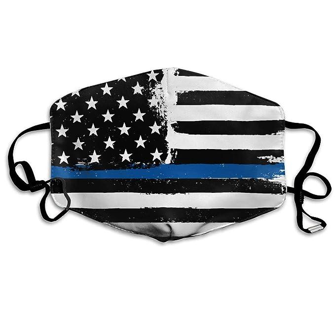 Amazon com: Black Blue American Flag Printed Mouth Masks