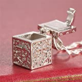 by lucky Jewelry Women Fashion 925 Silver Love Cube Necklace Pendant with Chain