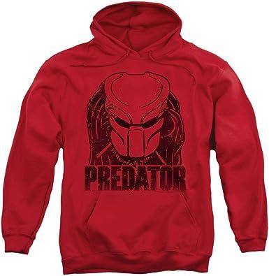 Predator 80/'s SciFi Horror Movie Faded Alien Head Logo Adult Pull-Over Hoodie