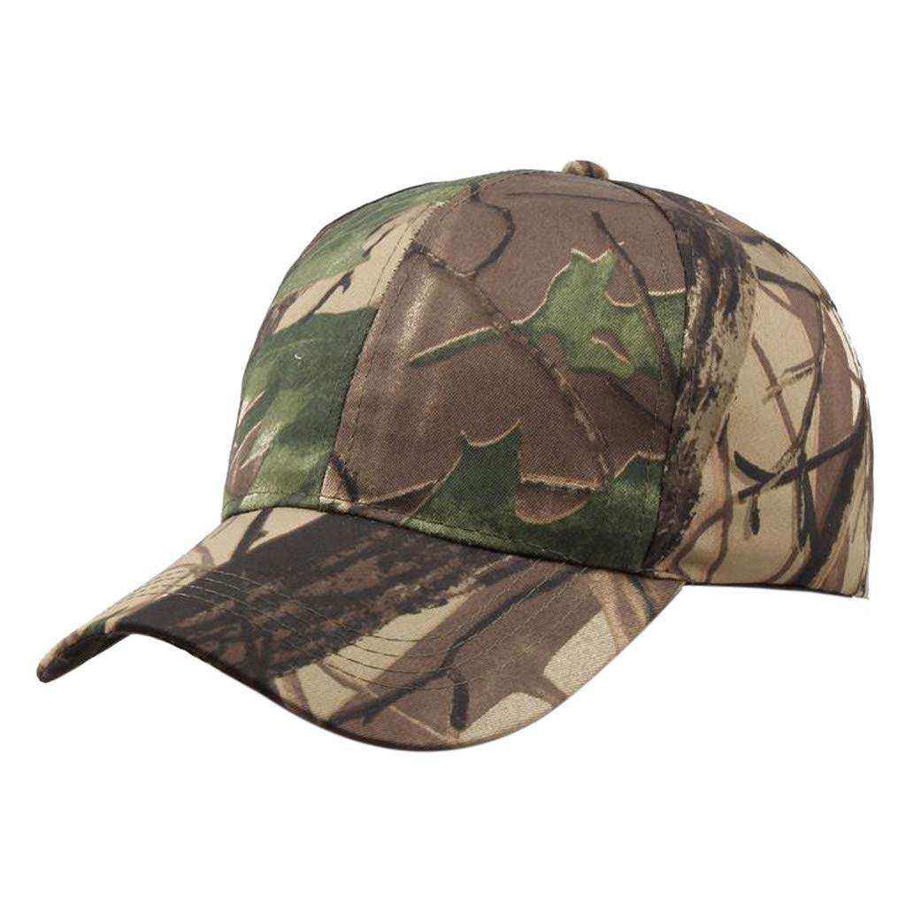 Tanlo 2019 Unisex Women Men Summer Outdoors Camouflage Visor Baseball Cap Adjustable Hat Dad Hats (A, Size:Adjustable)