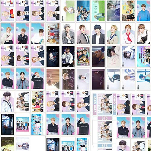 Youyouchard Kpop BTS MAP of The Soul: Persona Card Set BTS World OST Self-Made Mini Photocard Photo Card Lomo Cards Gift Set for BTS A.R.M.Y(BTS-1 (54PCS))