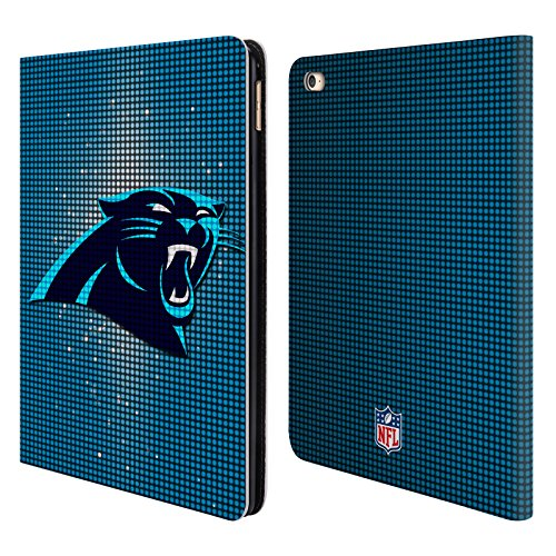 Official NFL LED 2017/18 Carolina Panthers Leather Book Wallet Case Cover for iPad Air 2 (2014)