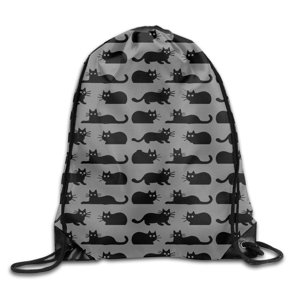 5daacf3a28 delicate RESS TGR Black Cat Lightweight Drawstring Bag Sport Gym Backpack  Gym Bag For Men And