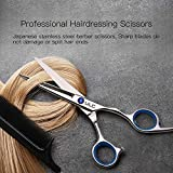 Hair-Cutting-Scissors-Shears-Professional-Barber-ULG-Hairdressing-Scissor-Salon-Razor-Edge-Hair-Thinning-Shear-Japanese-Stainless-Steel-Fine-with-Detachable-Finger-Ring-65-inch