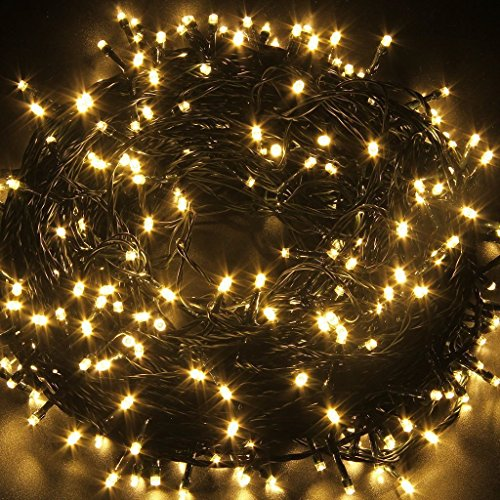 Indoor/Outdoor String Lights with 8 Flash Changing Modes, USB Power 72ft 200LED Wire lights, Waterproof Rope Lights, Fairy Twinkle Decorative Lights for Party/Christmas/Patio/Garden/Home (Warm White) (Christmas Twinkling Lights)