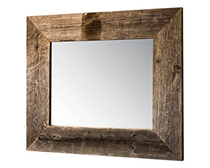 Amazon.com: Drakestone Designs Mirror with Barnwood Frame | Wall ...