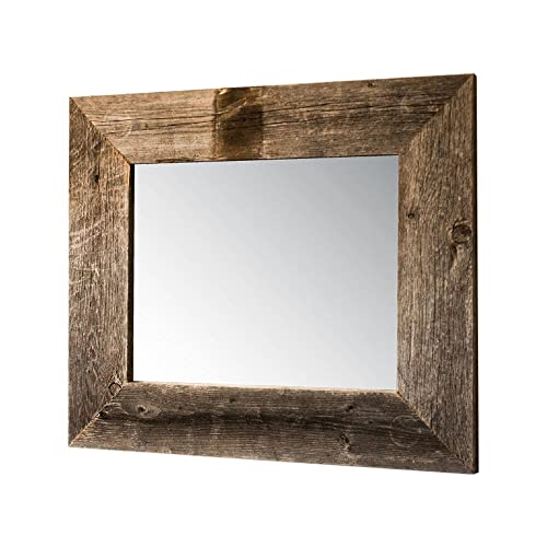 rustic wood mirror big drakestone designs mirror with barnwood frame wall mount handmade rustic reclaimed wood 22 mirrors amazoncom