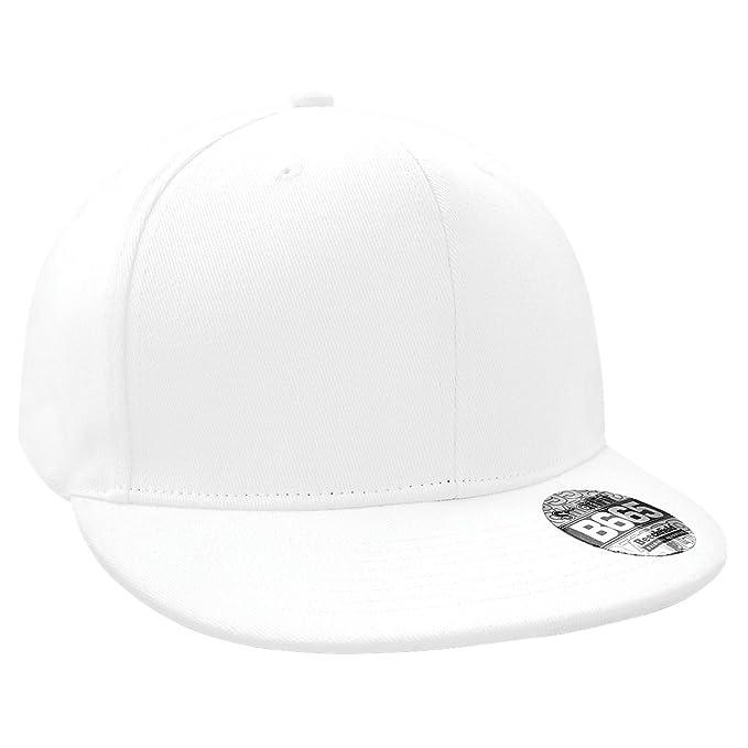 Beechfield - Gorra/Visera Hombre/Chico Visera Plana Rapper/Rapero/Hip Hop/Latino (Talla Única) (Blanco): Amazon.es: Ropa y accesorios