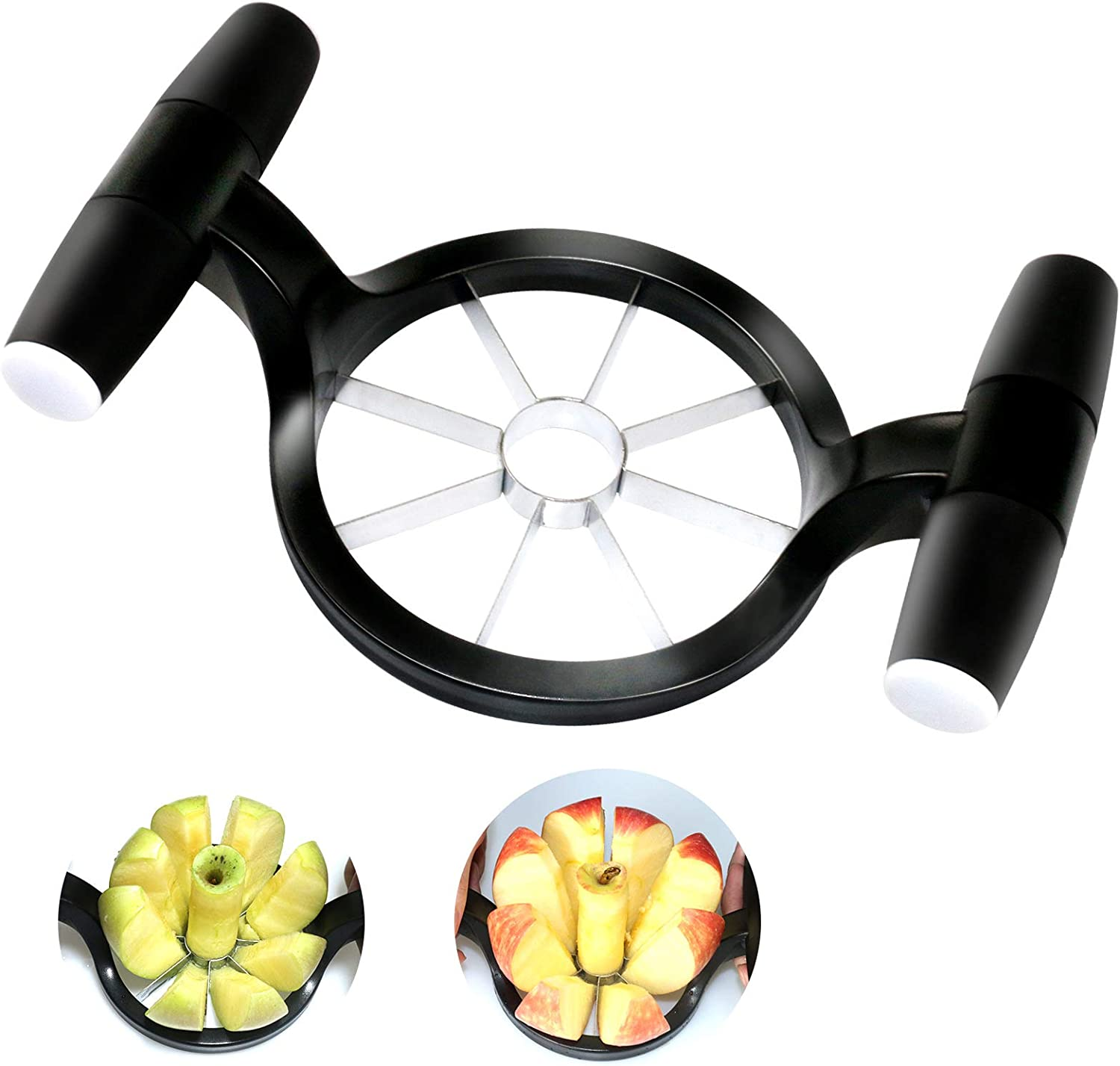 LIANGKEN Apple Slicer and Corer Tool, Professional Apple Cutter 8 Slices with Stainless Steel Blade, Fruit Slicer with Comfortable Handle,Strong and Sturdy