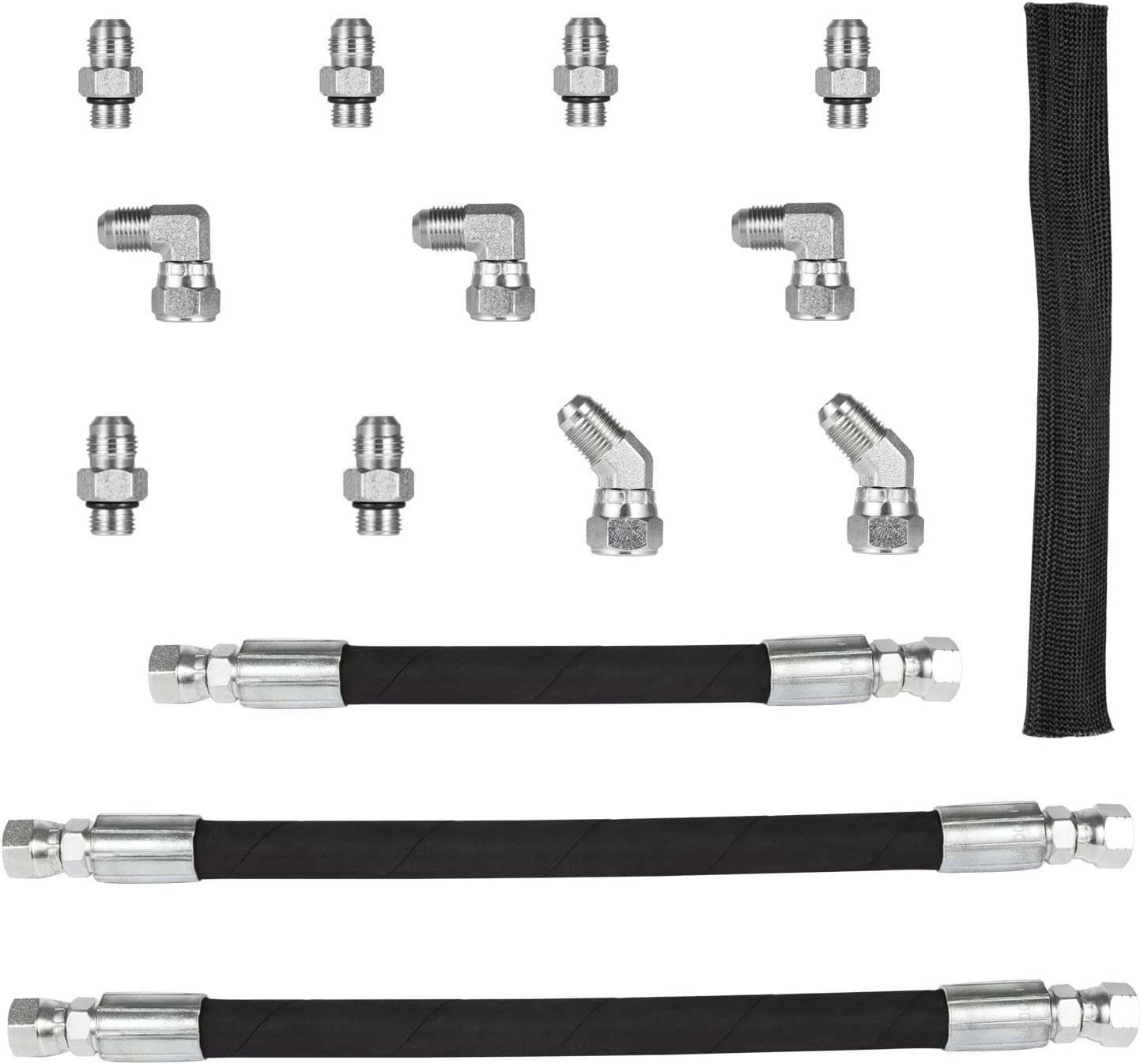 Camoo High Pressure Oil Pump HPOP Hoses Lines /& Crossover Kit Fits for 1999-2003 Ford 7.3L Powerstroke